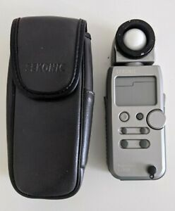 Sekonic L-358 Flash Master Digital Light Meter with the soft leather case