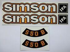 Aufkleber Simson S 50 B S50B ocker vorgestanzt und laminiert 6 Einzelstücke