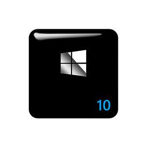 Windows 10 25x25mm 3D Gel Sticker / Aufkleber / Badge / Case Logo