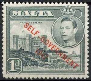 Malta 1948-53 SG#236a, 1d Grey Optd KGVI MH #E10593