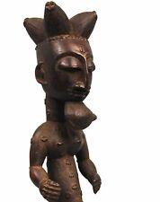 Art Africain  - Statue Atié - Sculpture à la Précision Extrême - 43,5 Cms ++++++