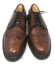 Vintage Long Wingtip V Cleat Dress Shoes British Walkers Made In USA Mens SZ 9 C