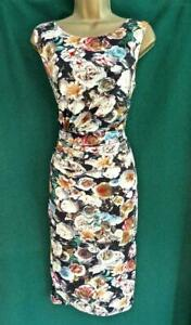 New PHASE EIGHT UK14 Black Cream Floral ALEXA ROSE Stretch Jersey Wedding Dress