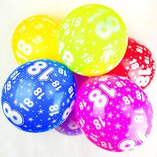 18th globos de Cumpleaños Con Estampado Números Fiesta Látex CALIDAD - Pack 10