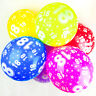 18th Birthday Balloons With Printed Numbers Party Latex Quality - Pack of 10