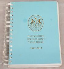 Devonshire Freemasons' Year Book 2012 - 2013 Card Cover