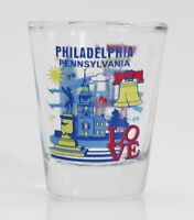 PHILADELPHIA ATTRACTIONS COLLAGE SHOT GLASS SHOTGLASS