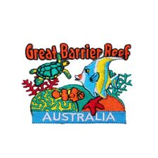 Australia Great Barrier Reef Patch Ocean Travel Embroidered Iron On Applique