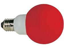BOMBILLA DECORACION 20 LEDS ROJOS E27 D. 60MM 1W UNIDAD