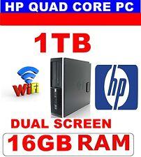 HP Windows 10 Quad Core Ordinateur PC 16 Go 1 To Dell ou d'autres souris double écran