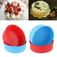 4 inch Silicone Round Cake Pan Tins Non-stick Baking Mould Bakeware Tray DIY
