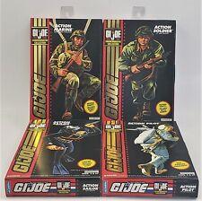 Set 4 Nuevo En Caja Sellada Gi Joe 1964-1994 Soldado Marinero Colección Conmemorativa piloto Marina
