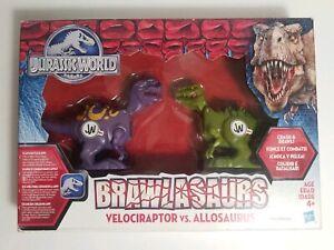 Jurassic World Brawlasaurs Velociraptor vs Allosaurus Figure Crash & Brawl