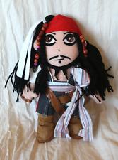 "Jack Sparrow Johnny Depp Pirates Caribbean Pirate Plush Doll 10"""