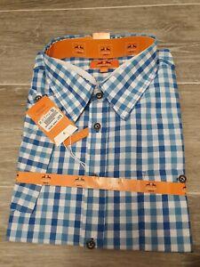 Men's BNWT Country Maddox Slim Fit Blue Check 2XL 45/46