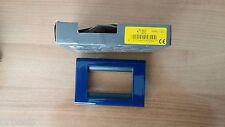 BTICINO 4713BC Placca Living Classic metallo 3 moduli Blu Cobalto