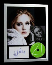 ADELE+SIGNED+FRAMED+21+19+25+HELLO+SKYFALL+LOVE=100% AUTHENTIC+FAST+GLOBAL SHIP