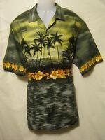 WINNIE FASHION Men's Hawaiian Style Shirt,XL,Outrigger,Aloha,Made Hawaii,Luau