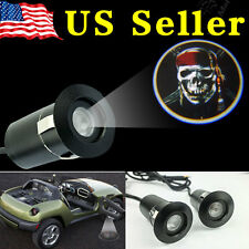 2x 5Th Ghost Shadow Laser Projector Logo Door LED Light-Caribbean Pirates Skull