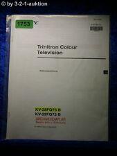 Sony Bedienungsanleitung KV 28FQ75B / 32FQ75B Color TV (#1753)