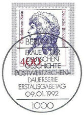 BRD 1992: Charlotte von Stein! Nr. 1582 mit Berliner Ersttagsstempel! 1A! 1803