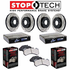 BMW 323i Sedan E46 Front and Rear StopTech Drilled Brake Rotors Sport Pads KIT
