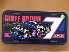 Geoff Bodine #7 Exide Batteries Wincraft License Plate