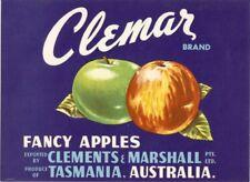 """SALE- Vintage Tasmania Apple Case Labels Fruit Art Poster """"bakers dozen-D"""" (13)"""