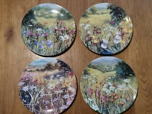 Royal Doulton Plates All Things Bright And Beautiful Collection 4 Plates Limited