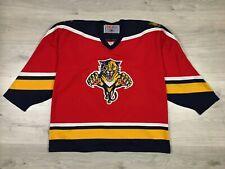 Florida Panthers NHL Ice Hockey CCM Maska Vintage Jersey Shirt size XL