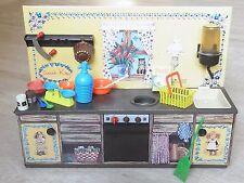 - Lamiera bambole cucina MFZ Volpe Sarah Kay 60er vintage con accessori-RAR