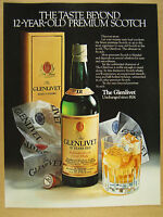 1980 The Glenlivet 12 Year Scotch bottle box glass photo vintage print Ad