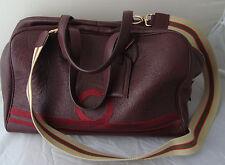 Passion BLANCHE DOLLARO Boston Bag in pelle bordeaux con motivo in lurex