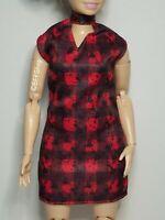 MATTEL BLACK RED PLAID DRESS FASHIONISTAS BARBIE DOLLS FASHION CLOTHES CURVY