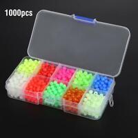 1000pcs/Box Plastic Fishing Round Beads Luminous Fishing Tackle Lures Tools