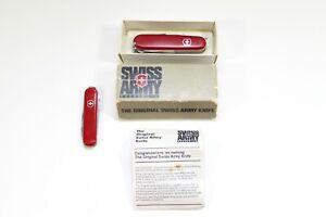 Vintage Swiss Army Ranger Officier Knife w Box + Extra Hoffritz Knife - Lot of 2