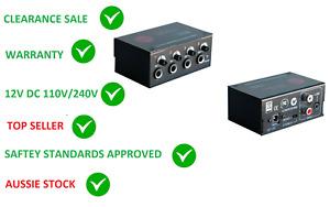 SM PRO XPH4 AUDIO LINE HEADPHONE 4 WAY SPLITTER AMPLIFIER DIVIDER PRE AMP preamp