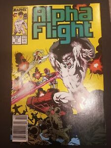 ALPHA FLIGHT #51 (NEWSSTAND) - JIM LEE higher grade 1987