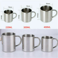 2 Sizes Stainless Steel Cup Mug Drinking Travel Picnic Camping Coffee Beer Water