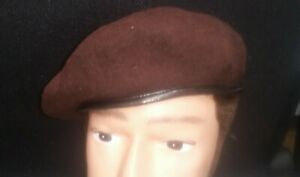 BERET ARMY BROWN - 100% WOOL ARMY SMALL & MEDIUM NEW MADE COSPLAY FANCY DRESS