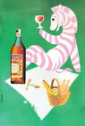 "Vintage Cinzano Liquor Poster Art CANVAS PRINT Zebra 24""X18"""