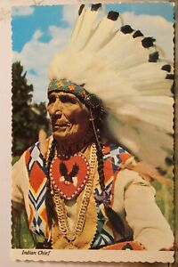 Indian Native American Chief Postcard Old Vintage Card View Standard Souvenir PC