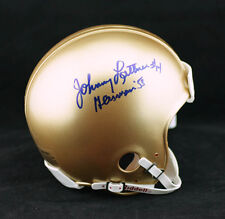Johnny Lattner SIGNED Notre Dame Mini Helmet + Heisman 53 PSA/DNA AUTOGRAPHED