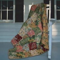 Greenland Home Fashions Antique Chic - 50W x 60L in. Quilted Throw, Multicolor,