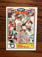 1988 Topps #8 Dave Winfield Baseball Card New York NY Yankees All Star Raw