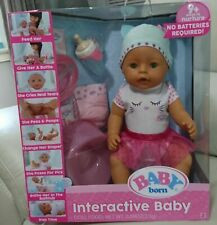 Baby Doll - Baby Born Interactive Baby with Accessories - Green Eyes - Zapf Crea