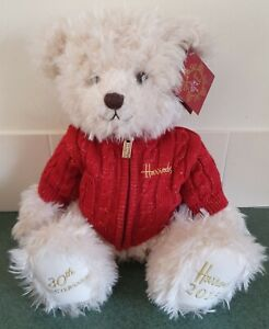 Harrods 2015 30th Anniversary Teddy Bear With Dust Bag, With Tags