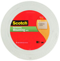 """3M Scotch Mounting Tape 110-MR Double Sided 3/4"""" (19mm) wide x 38 yds (34.7m)"""