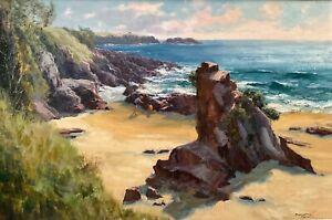 Orig Oil Artwork By John Carey Downton (Aust 1939-) 'Morning Sunshine Kiama NSW'