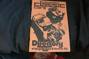 Thoroughbred & classic cars Directory of Secialist Firms & Services 1976